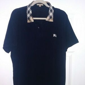 Flawless Burberry Brit nova check collar navy polo